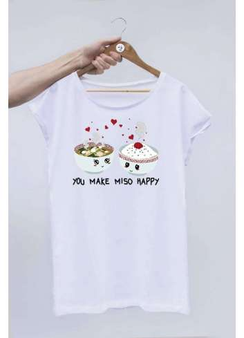CAMISETA OFFSETCOLLAGE YOU MAKE MISO HAPPY