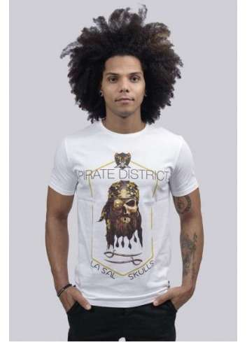 CAMISETA LA SAL DISTRICT PIRATE BLANCA