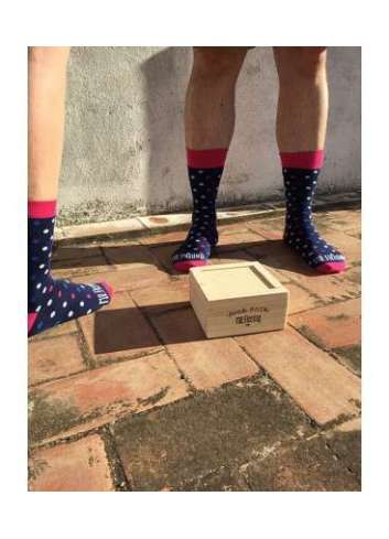 CALCETINES MR. FLEMING PACK DUO BIG DOTE PINK