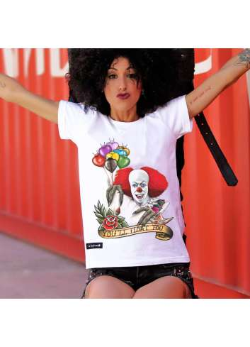 CAMISETA BE HAPPINESS PAYASO IT