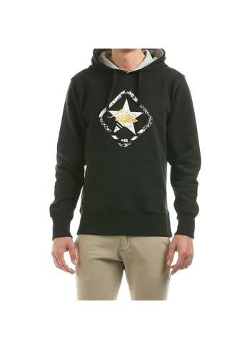 SUDADERA HOT BUTTERED M CON CAPUCHA STAR HOODED FLEECE NEGRO