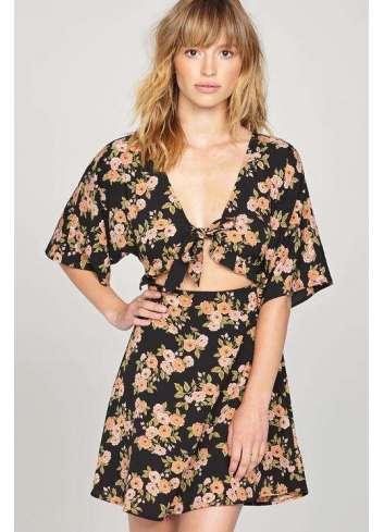 VESTIDO AMUSE FLORAL ENVY DRESS BLACK