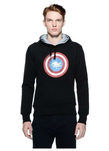 SUDADERA HOT BUTTERED M IRON MAN CON CAPUCHA NEGRA