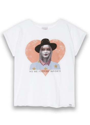 CAMISETA DEAR TEE C CORAZON WHITE