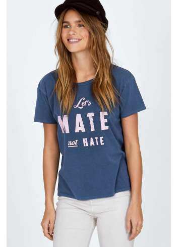 CAMISETA AMUSE LET'S MATE NOT HATE TEE