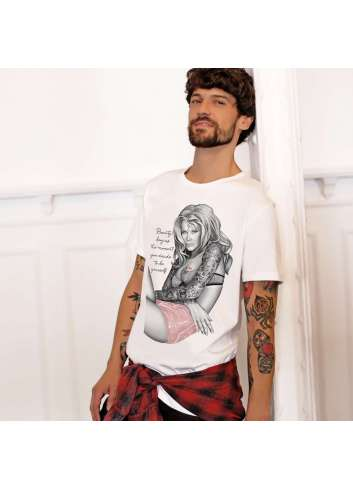 CAMISETA BE HAPPINESS CLAUDIA SCHIFFER