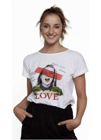 CAMISETA DEAR TEE KATE LOVE WHITE