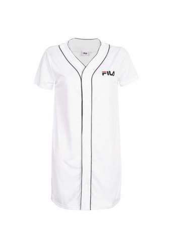 VESTIDO FILA ROBIN BUTTON BASESBALL DRESS WHITE